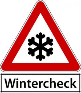 Wintercheck Schild Zeichen Frost Winter Check Symbol